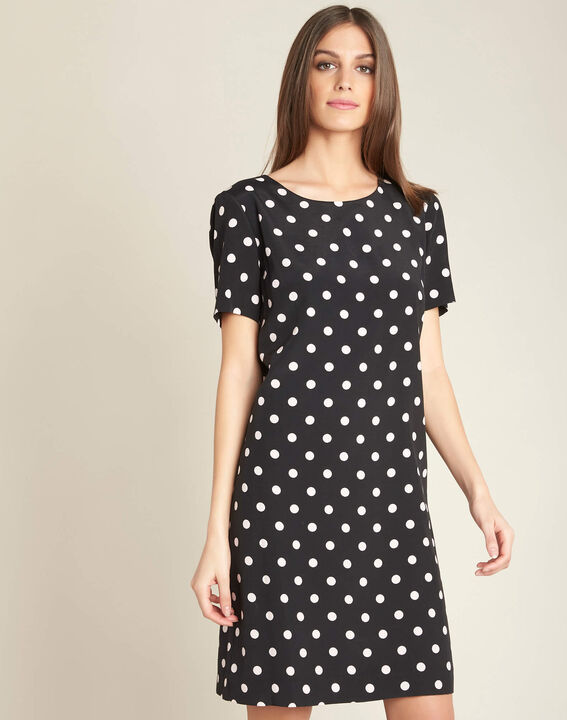 People black straight-cut polka-dot dress (3) - 1-2-3
