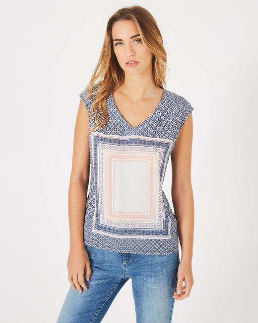 Tee-shirt marine imprimé Beverly (1) - 1-2-3