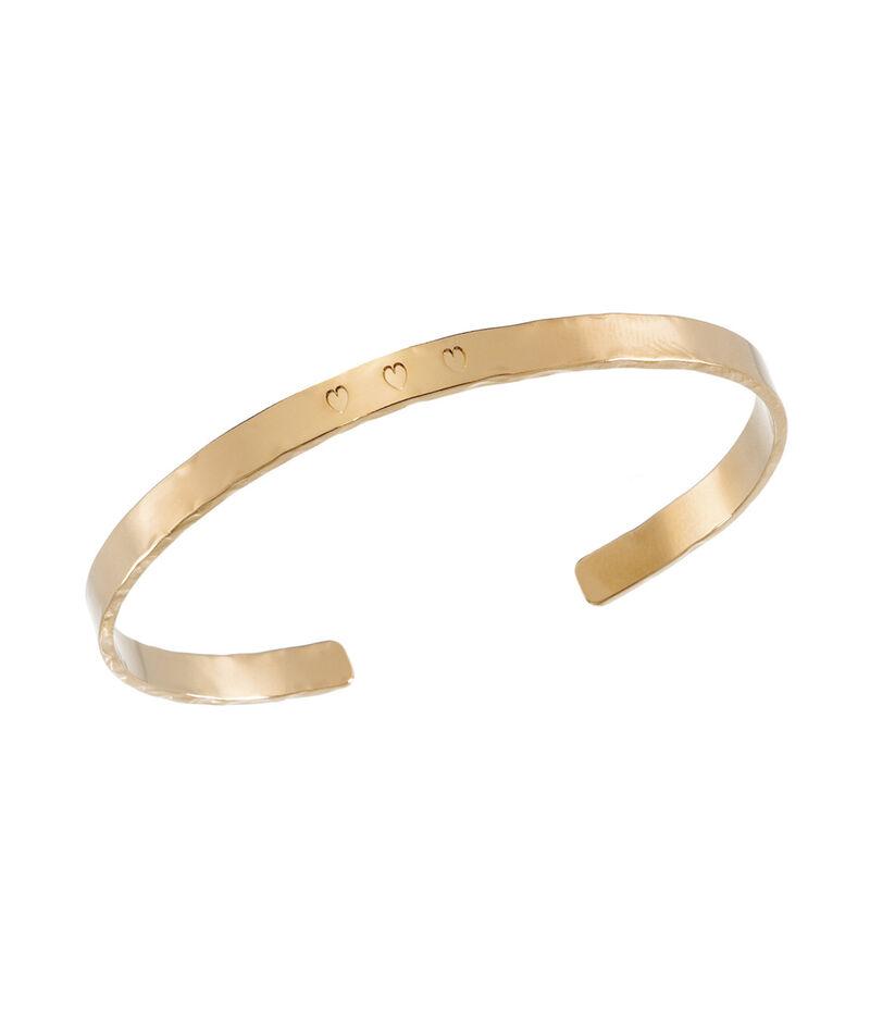 Bracelet martelé or cœur Bijoux Léone PhotoZ | 1-2-3