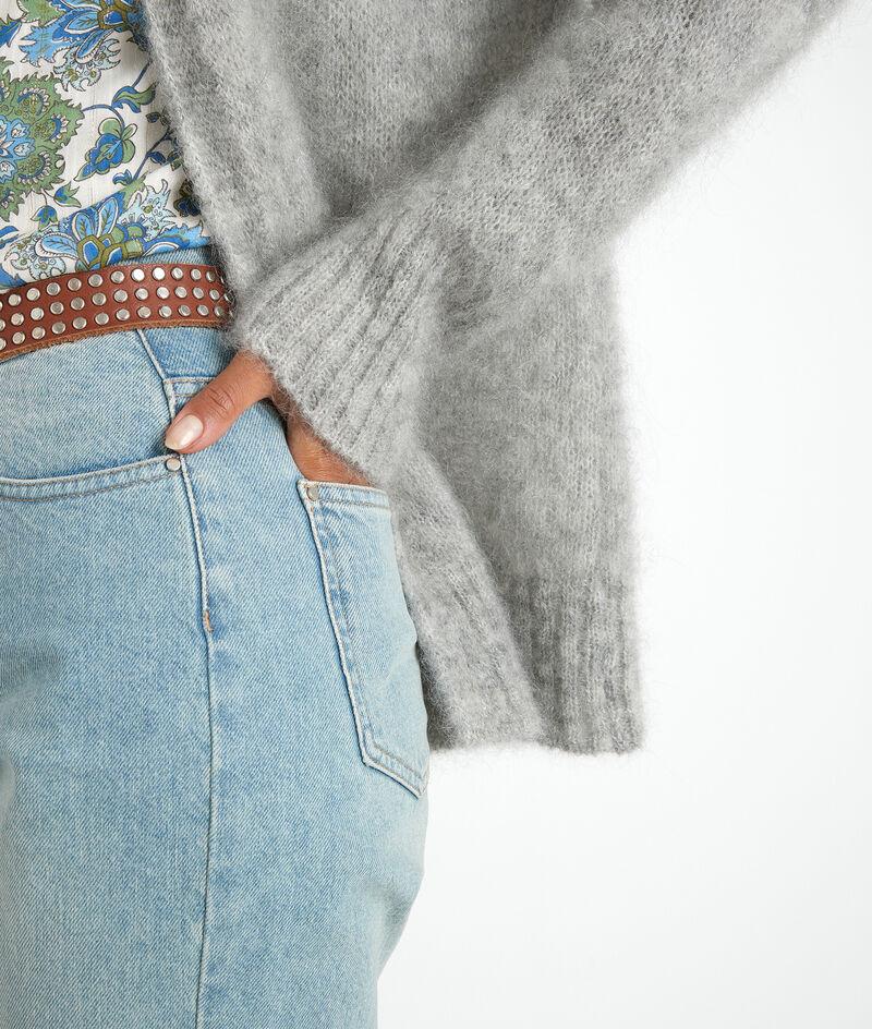 Cardigan en mohair gris chiné Rozelle  PhotoZ | 1-2-3