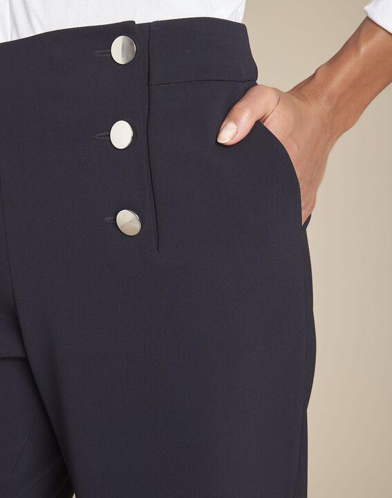 Pantalon marine à pont en microfibre Hubert (3) - Maison 123