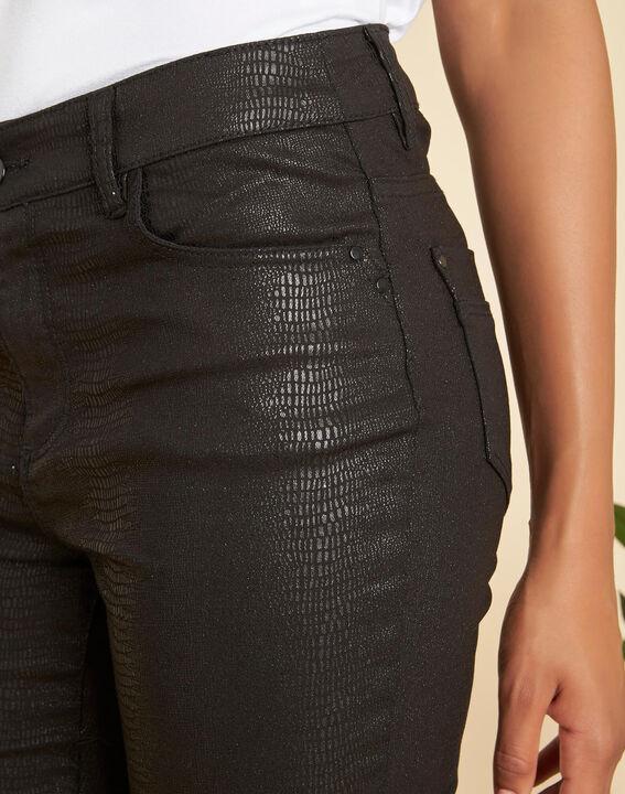 Schwarze beschichtete 7/8-Jeans Oliver PhotoZ | 1-2-3