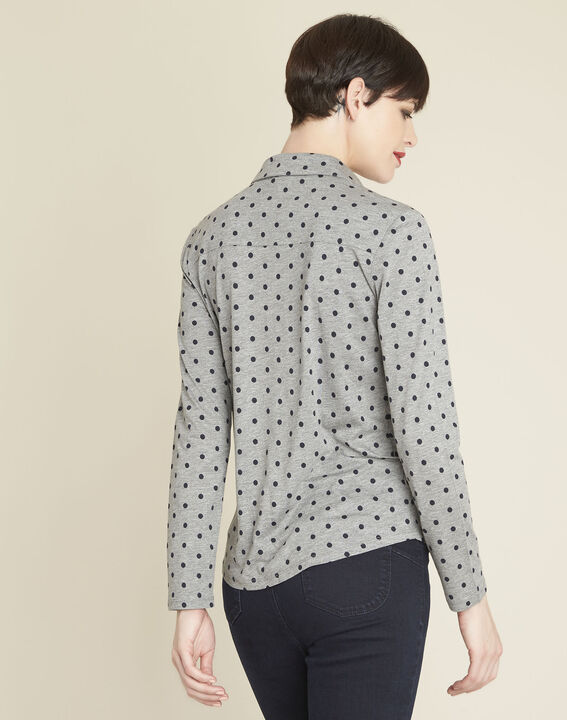 Gaby grey polka dot print t-shirt (4) - 1-2-3