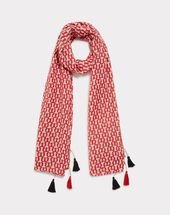 Emilia red printed scarf red.