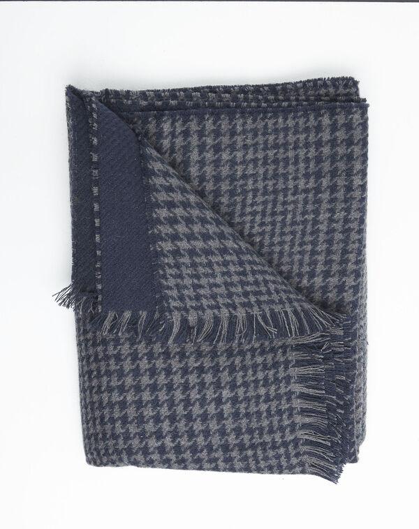 Echarpe grise à carreaux en laine Feline (2) - 1-2-3