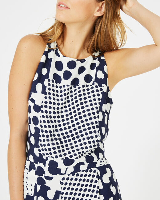 Cropped-Overall mit Print Amande (1) - 1-2-3