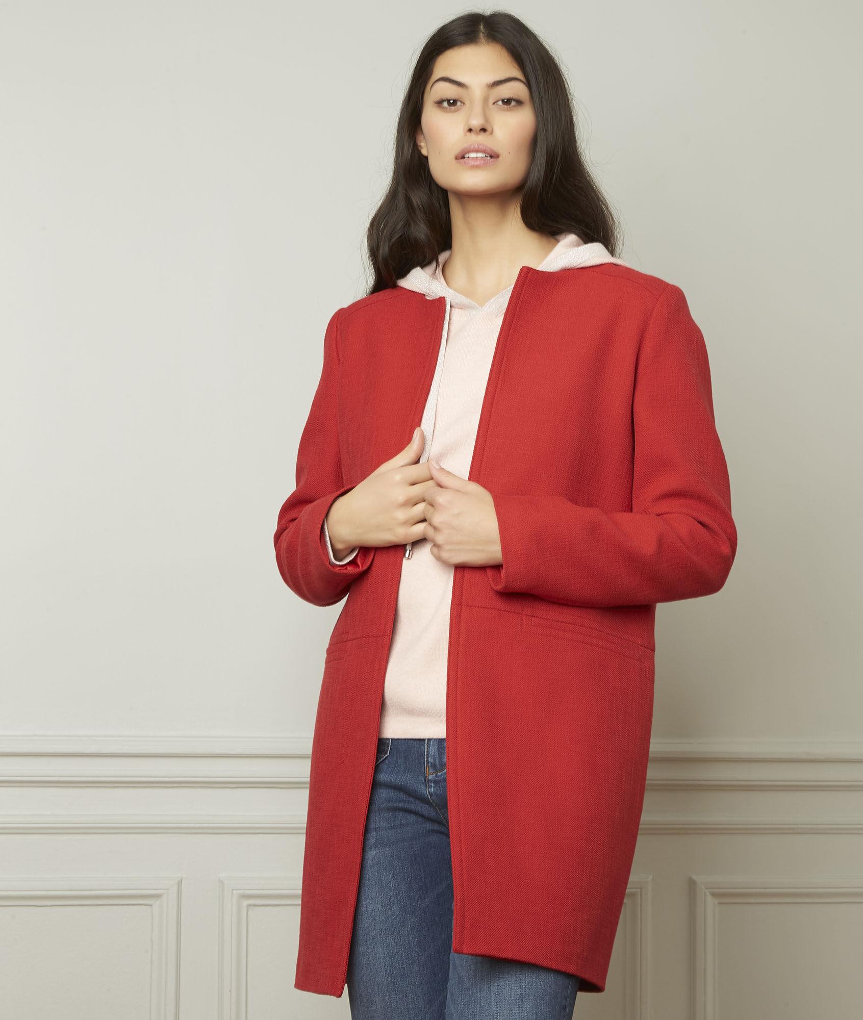 Veste classique femme rouge