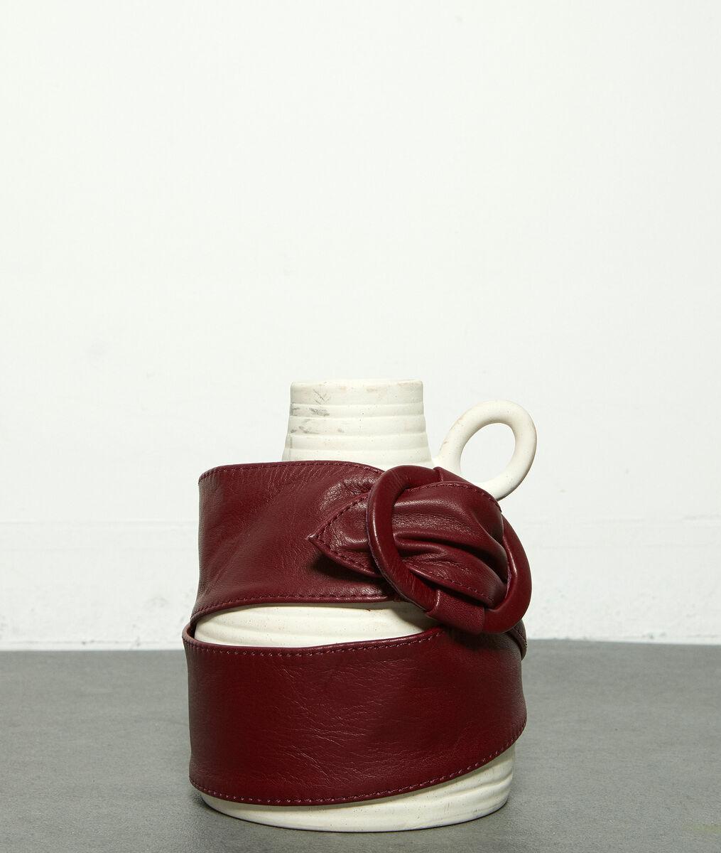 Ceinture large en cuir souple bordeaux Elya PhotoZ   1-2-3