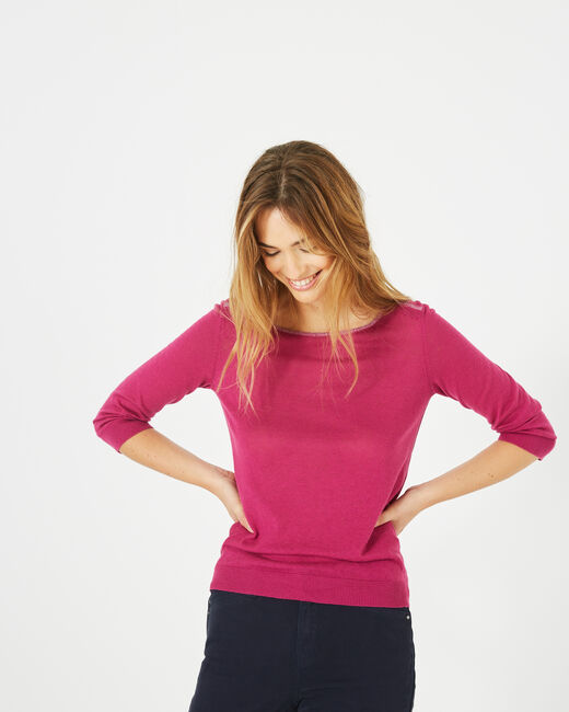 Pétillant raspberry sweater with metallic threading (1) - 1-2-3