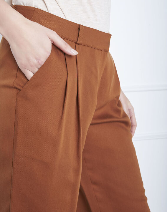 Pantalon marron large Giovanni (3) - Maison 123