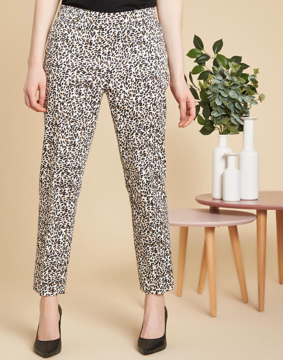 Rubis camel printed trousers (3) - 1-2-3