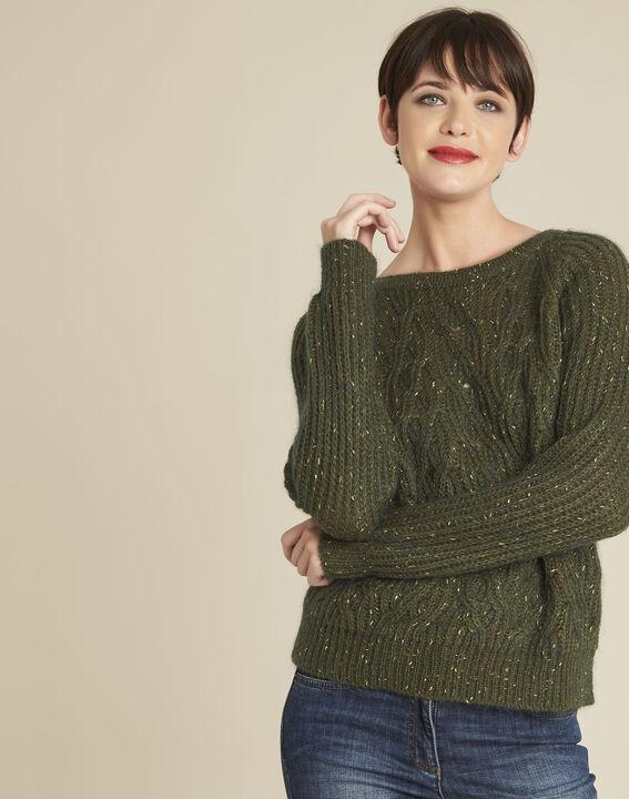 Baroudeuse iridescent khaki mohair pullover (1) - 1-2-3