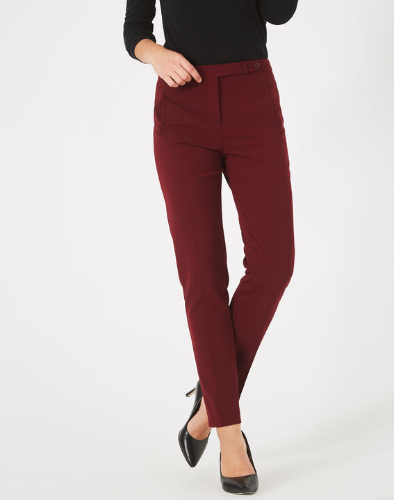 Pantalon de tailleur cassis Lara (3) - 1-2-3
