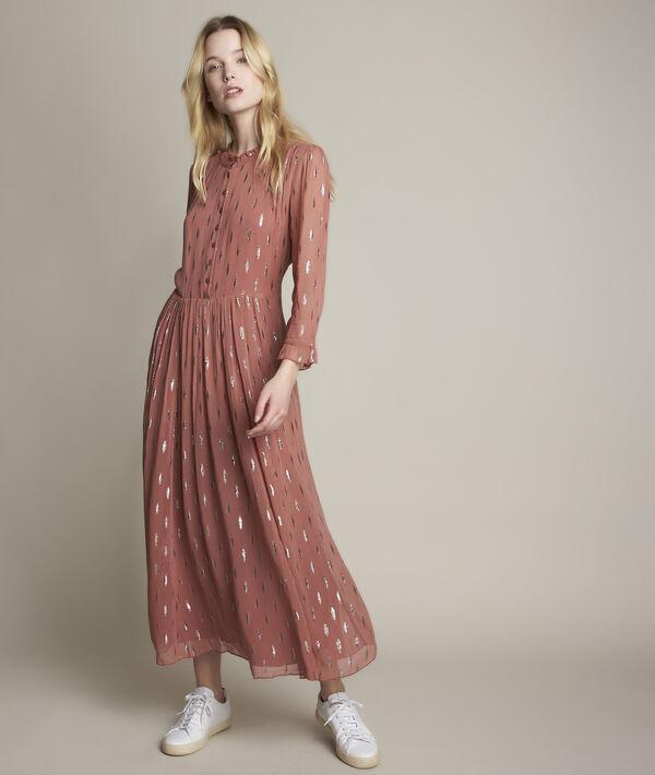 Robe longue imprimée lurex Océanie PhotoZ   1-2-3