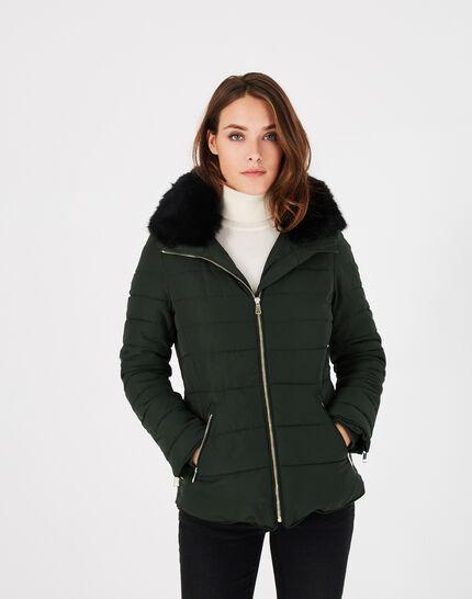 Laure short pine green puffer jacket (2) - 1-2-3