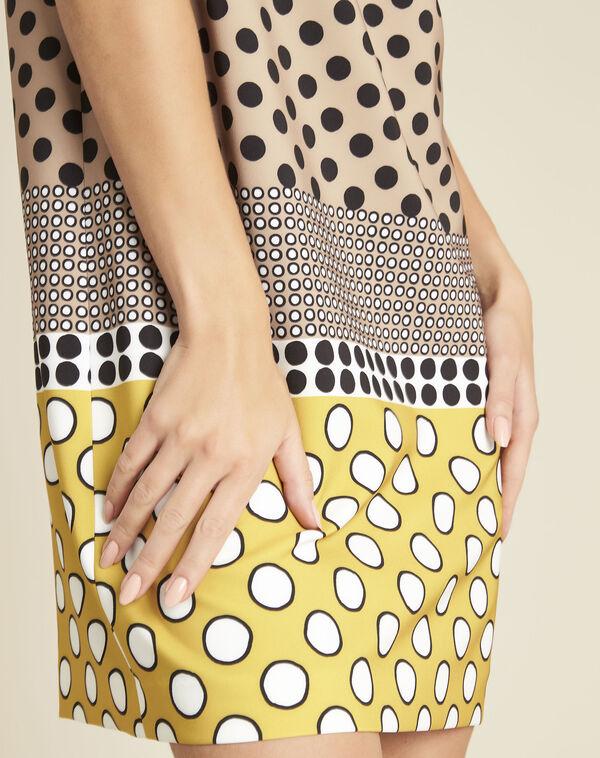 Robe jaune imprimée pois Dakota (2) - 1-2-3