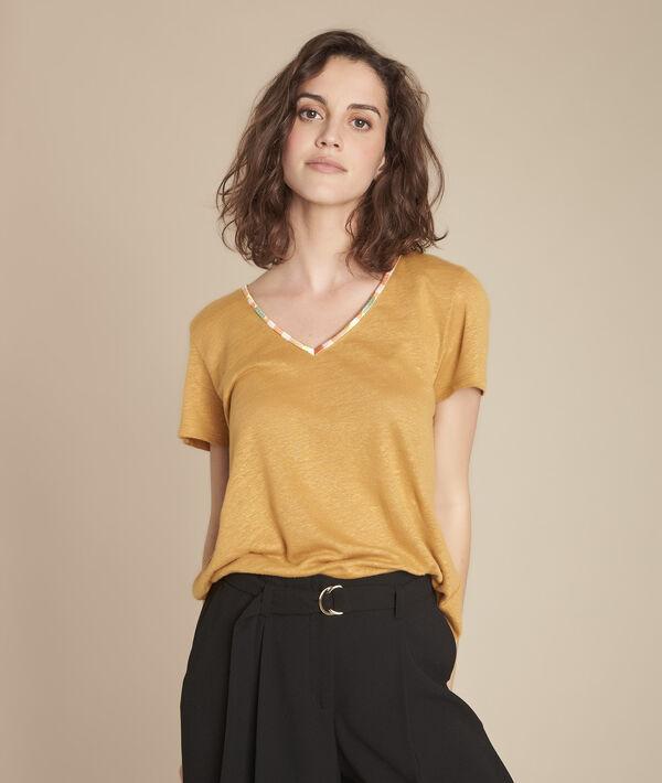 Tee-shirt jaune en lin Capri PhotoZ | 1-2-3