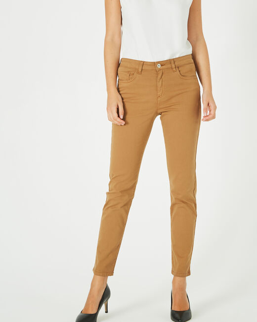 Oliver 2 ⅞-length caramel trousers (2) - 1-2-3