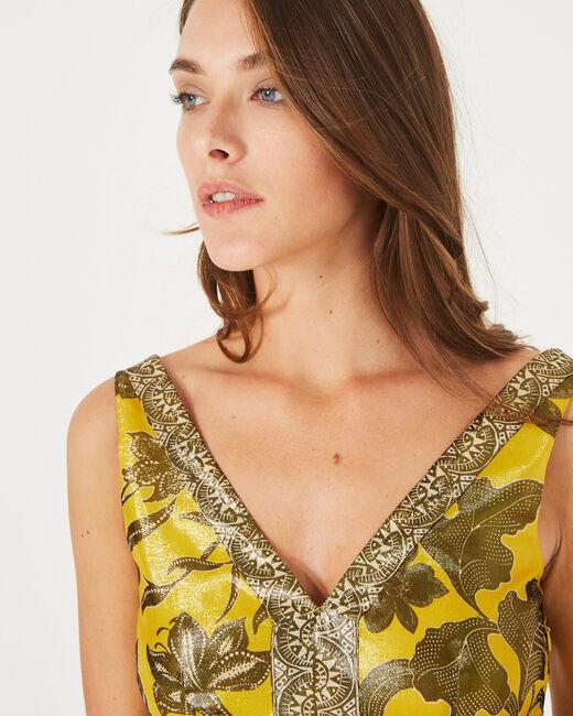 Robe jaune imprimé brillant Bonita (1) - 1-2-3