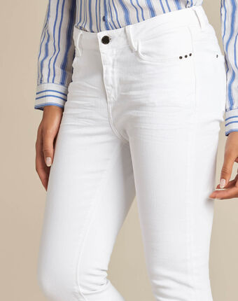Vendôme white 7/8 length jeans white.