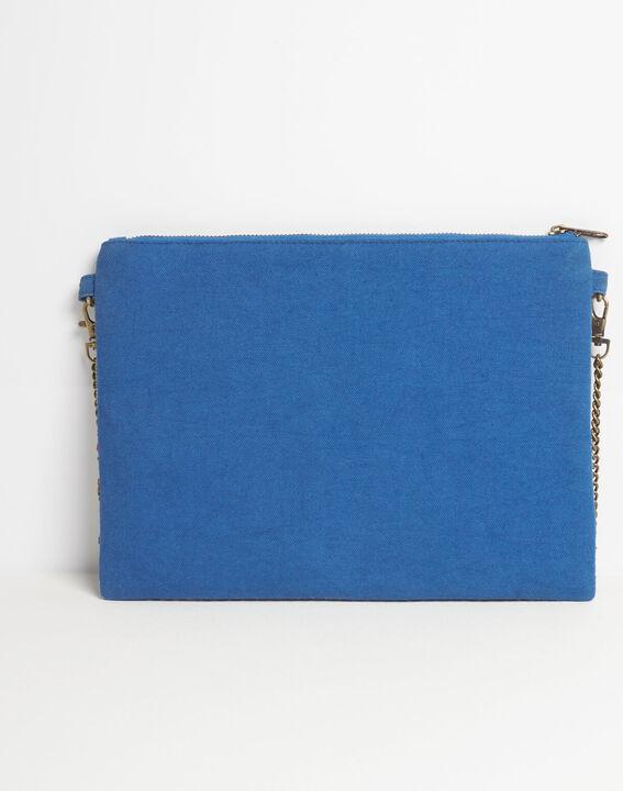 Dakota embroidered shoulder bag with chain and beading PhotoZ   1-2-3