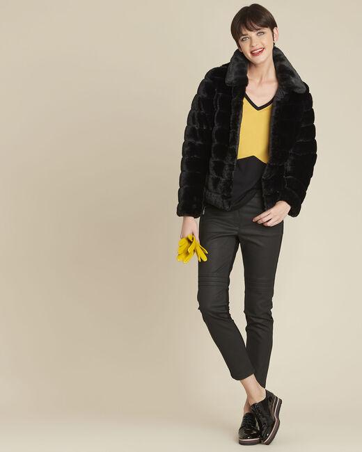 Tee-shirt jaune colorblock Garvine (1) - 1-2-3