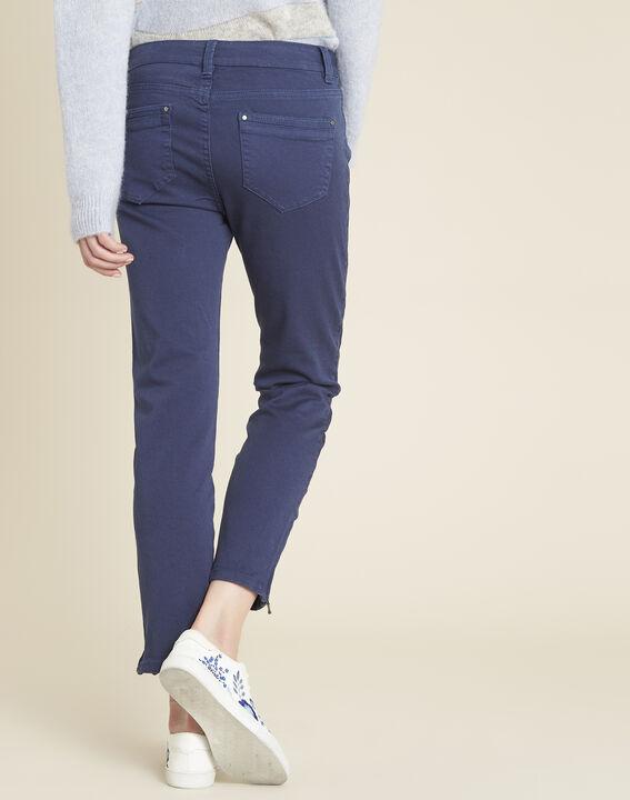 Kobaltblauwe slim fit jeans met ritsen Opera (4) - 37653