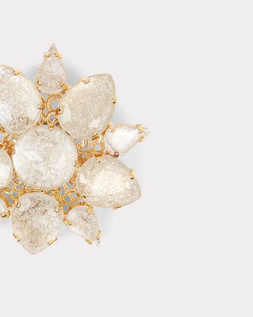 Glänzende und goldene Messing-Brosche Isadora (2) - 1-2-3