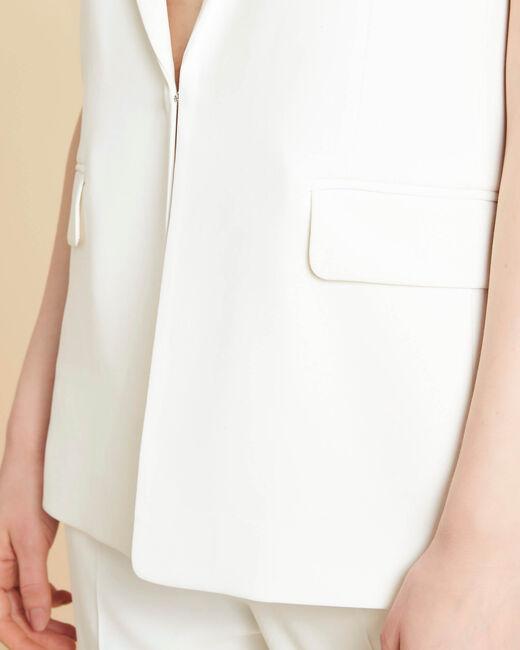 Veste blanche sans manches Cool (2) - 1-2-3