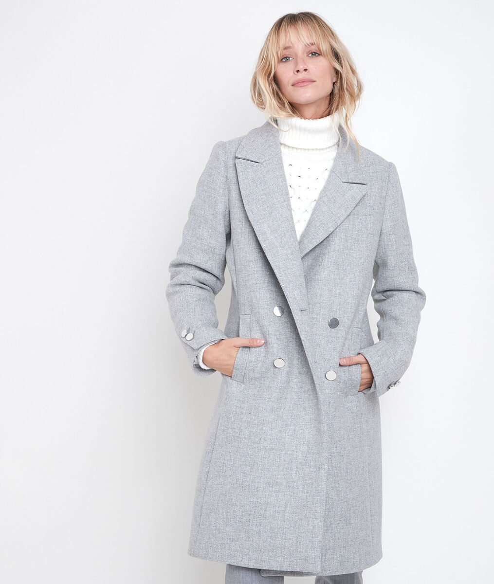 Manteau droit gris Jeff PhotoZ   1-2-3