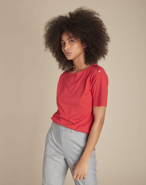 Tee-shirt rouge col bateau Calvi PhotoZ | 1-2-3