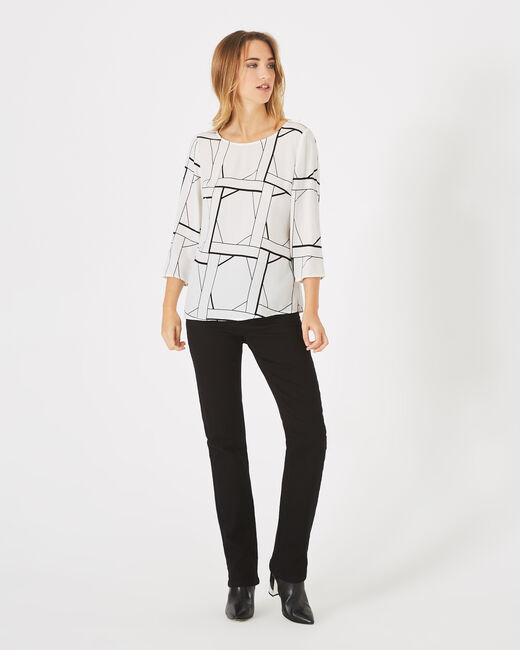 Balneo white blouse with a graphic print (1) - 1-2-3