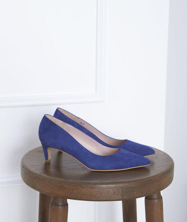 Blaue Pumps aus Ziegenveloursleder Lili PhotoZ | 1-2-3