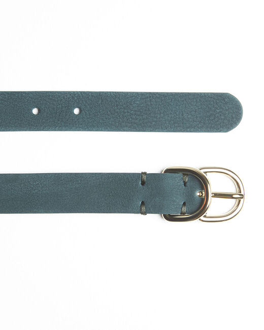 Quorentin emerald leather double buckle belt (1) - 1-2-3