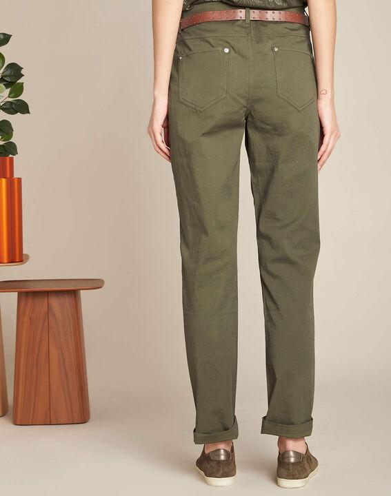 Slim fit kaki 7/8-broek van katoen Francis (4) - 37653