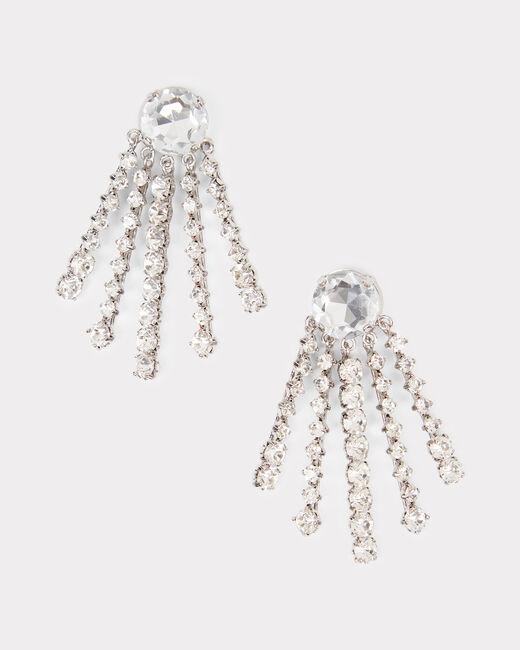 Boucles d'oreilles à clips argentées en laiton et verre Ielena (1) - 1-2-3