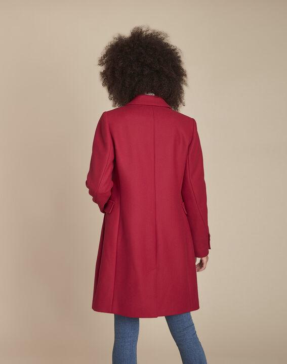 Manteau rouge en laine mélangée Plume (4) - 1-2-3