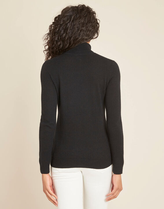 Perceneige black polo-neck cashmere sweater (4) - 1-2-3