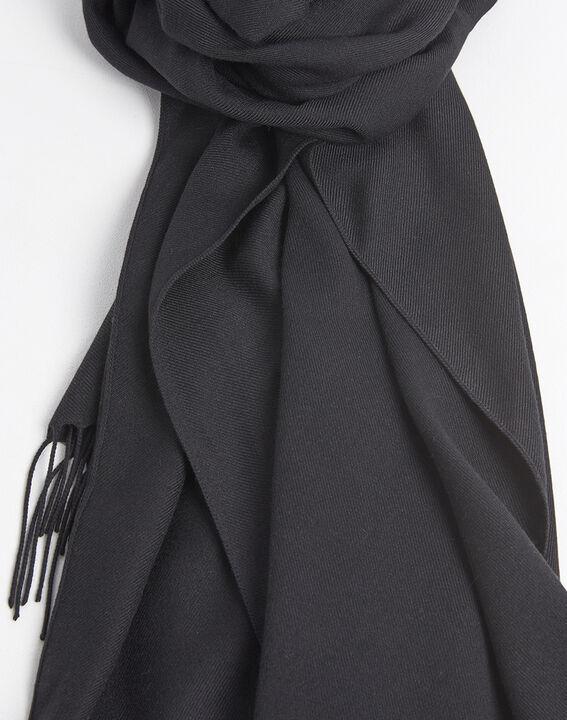 Zwarte sjaal met franjes Fossette (2) - 37653