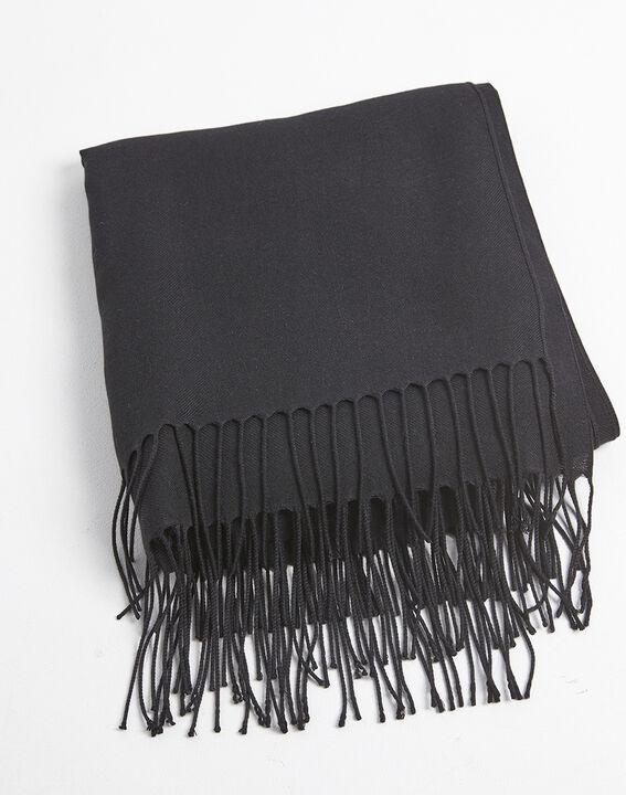 Foulard noir avec franges Fossette PhotoZ | 1-2-3