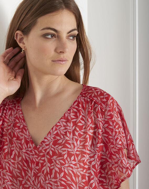 Blouse rouge imprimé brillant Valencia (4) - Maison 123