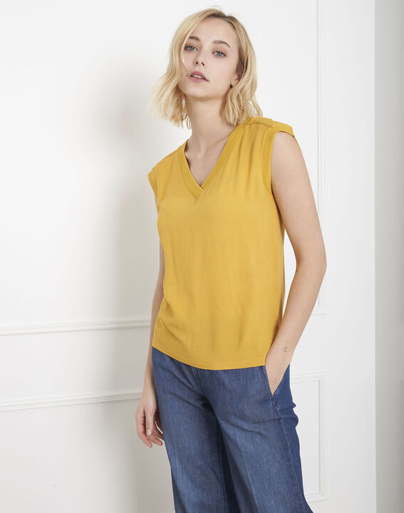 Top jaune bimatière Vivace (1) - Maison 123