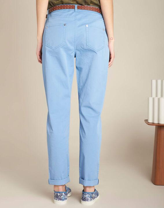 Pantalon slim indigo clair coton 7/8 Francis (4) - 1-2-3