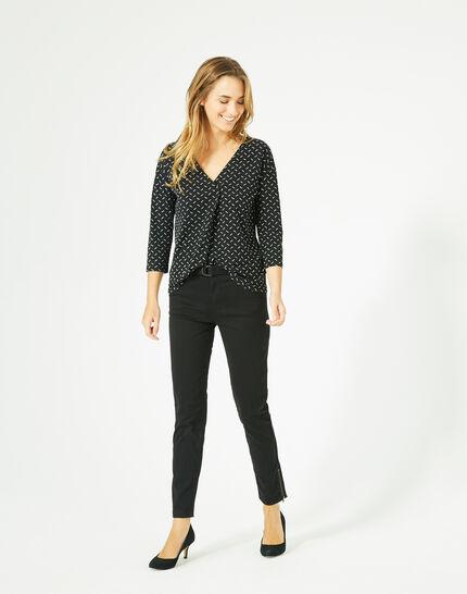 Bruna black polka dot T-shirt PhotoZ | 1-2-3