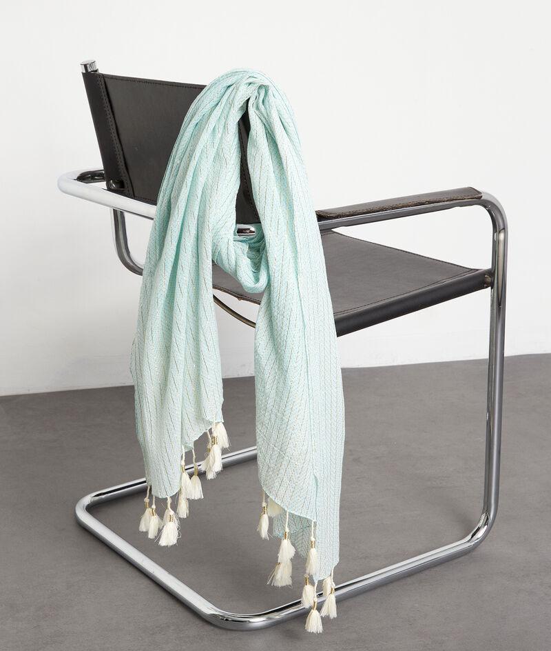 Foulard en coton et lurex bleu ciel Paola PhotoZ | 1-2-3