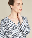 Gervaise navy blue blouse with floral print PhotoZ | 1-2-3