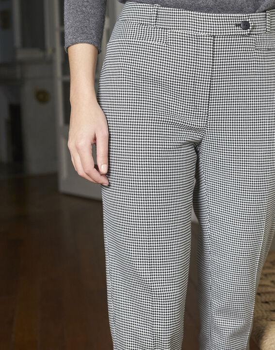 Pantalon cigarette imprimé pied de poule Valero (3) - 1-2-3
