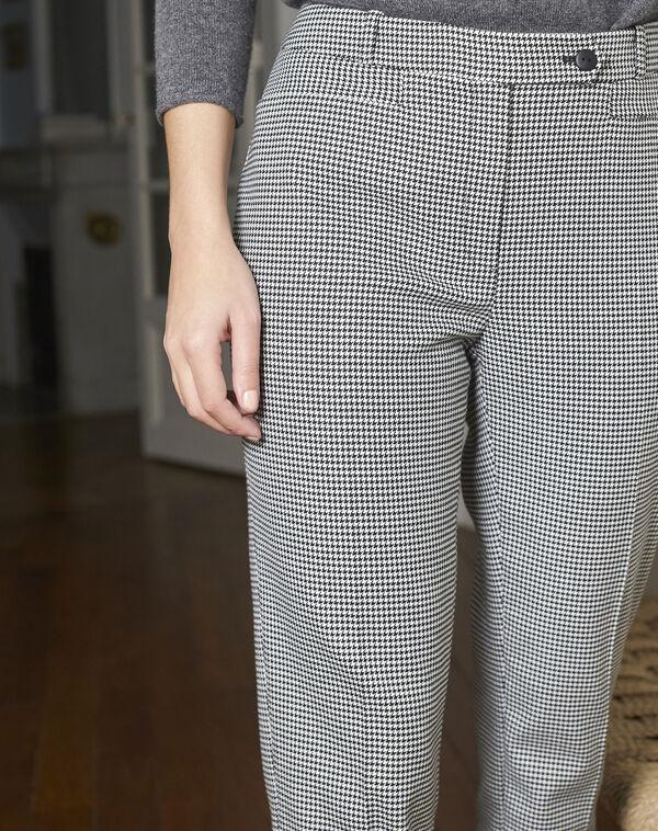 Pantalon cigarette imprimé pied de poule Valero (2) - 1-2-3