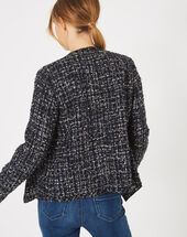 Mouna dark indigo jacket in tweed dark indigo.