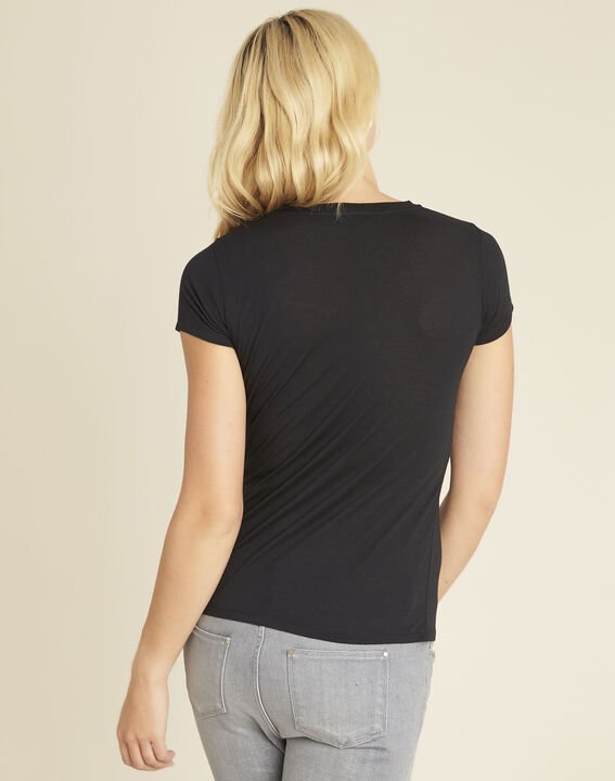 Gly black T-shirt with embroidered detailing (4) - 1-2-3